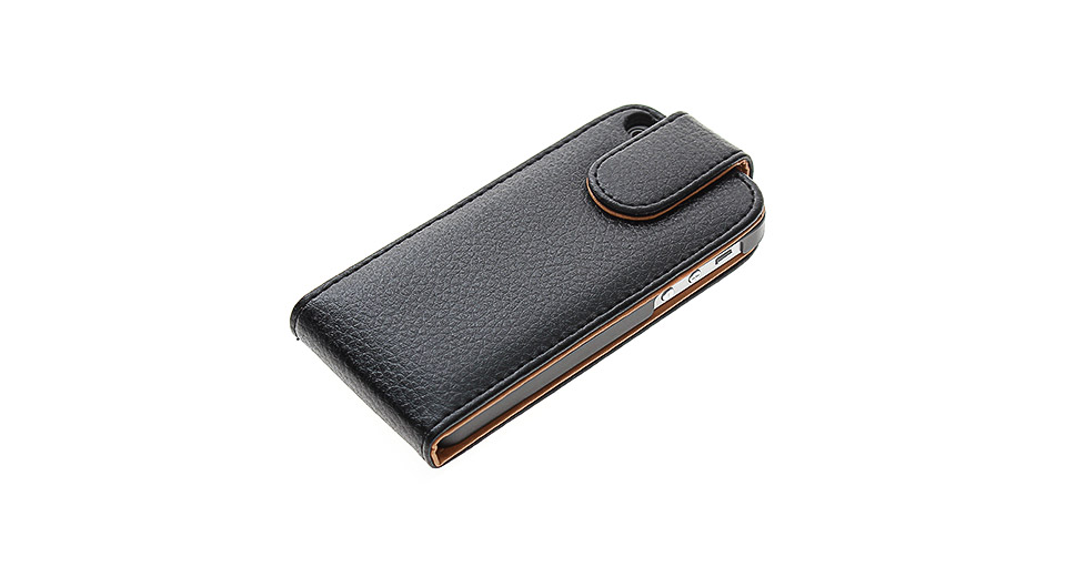 Protective Flip-open PU Leather Case for iPhone 5