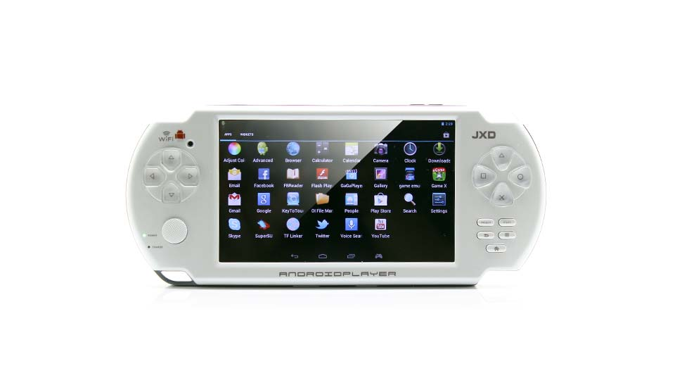 "Image of JXD S5300 5"" Capacitive Touch Screen Android 4.1.1 ARM Cortex A8 Game Console (4G / White)"