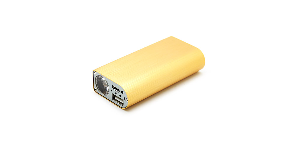 Image of 1.5A 2*18650 Single USB Output Mobile Power Pack Battery Charger w/ LED Flashlight