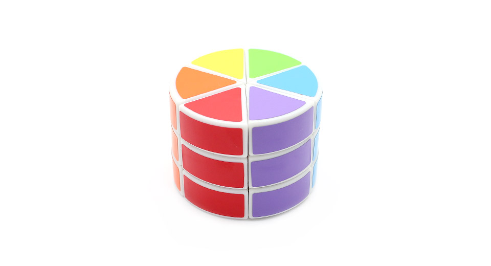 3-Layer Pie Shaped Cylinder Speed Magic Cube