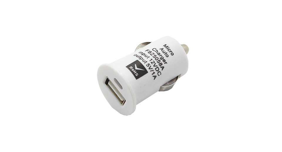 1000mA Single USB Car Cigarette Lighter Charger Adapter