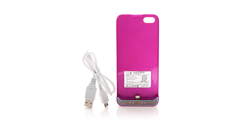 JIB LAP51 2600mAh Rechargeable External Battery Back Case for iPhone 5
