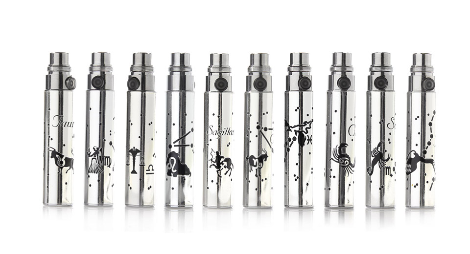 Constellation Pattern 650mAh Rechargeable Battery for EGO Electronic Cigarette (10-Pack)