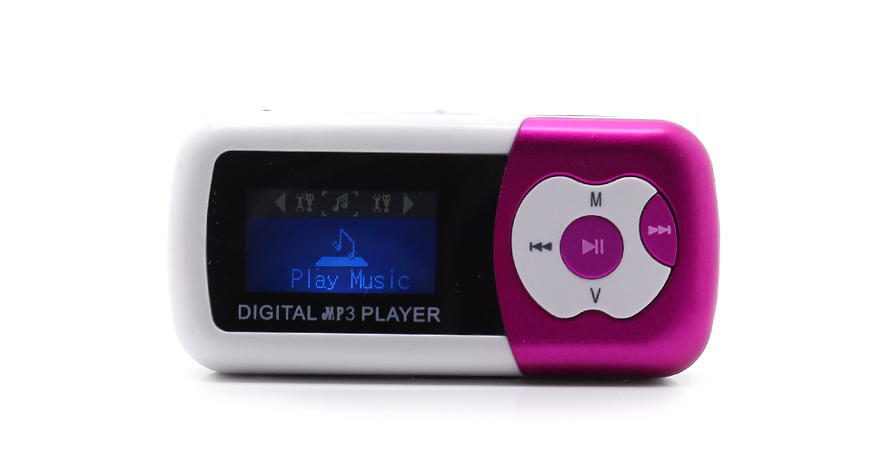 "Image of 1.1"" OLED Screen MP3 Music Player with TF Card Slot / Speaker (Peach)"