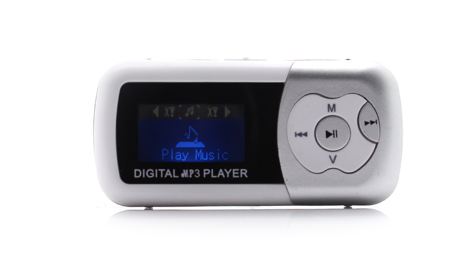"Image of 1.1"" OLED Screen MP3 Music Player with TF Card Slot / Speaker (Grey)"