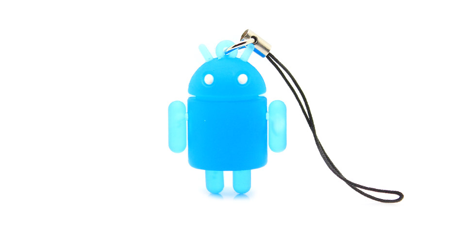 Glow-in-the-Dark Android Robot Doll Toy Cell Phone Strap