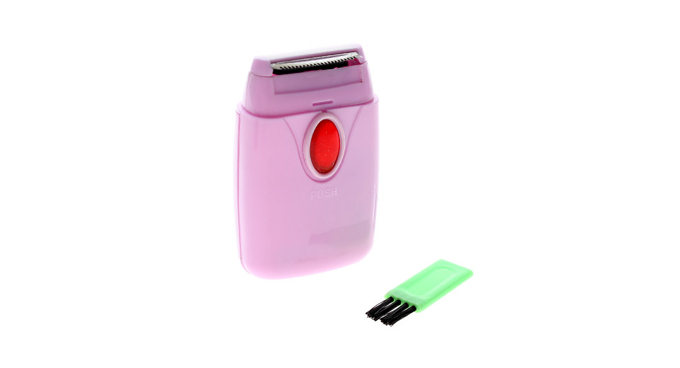 High Quality Electric Body Hair Shaver with Free Brush and Dual Knife Heads