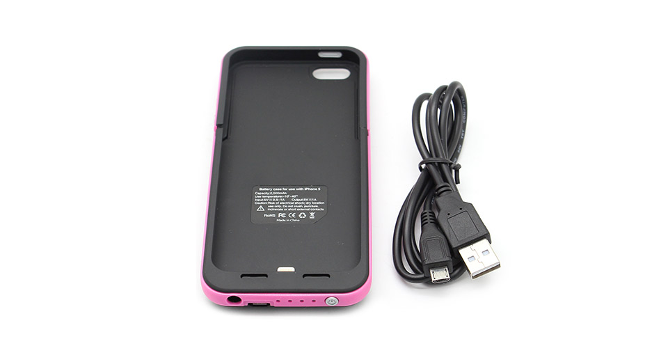 I522 Rechargeable 2500mAh External Battery Protective Back Case for iPhone 5