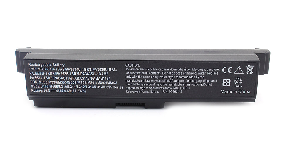 Image of 10.8V 4400mAh Replacement Li-ion Battery for Toshiba Laptop