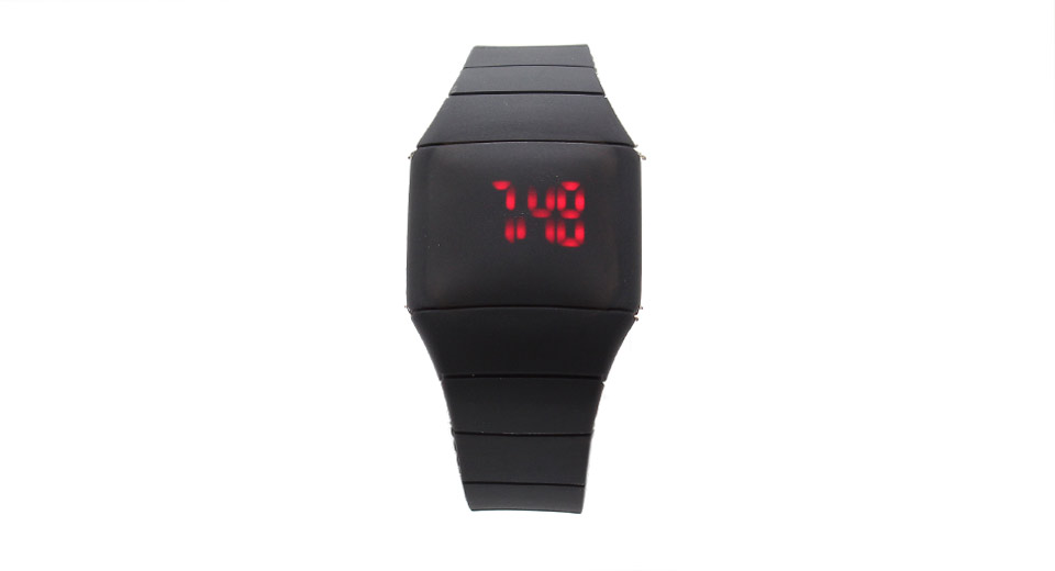 HZ-39 Silicone Band Red LED Digital Wrist Watch (Small)