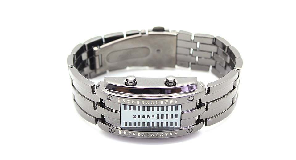 HZ-338 Stainless Steel Band LED Women's Digital Wrist Watch (Small)