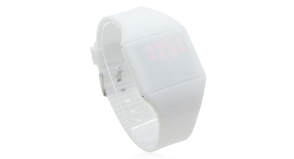 HZ-39 Silicone Band Red LED Digital Wrist Watch (Large)