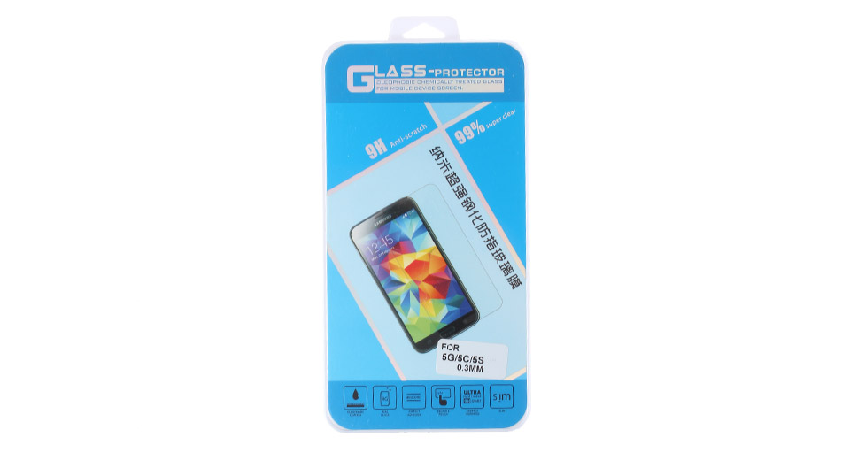 Transparent Tempered Glass Screen Protector for iPhone 5