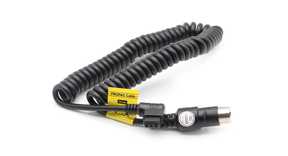 PB-CX Coiled Power Cable for Godox PB820/PB960 External Flash Battery Pack
