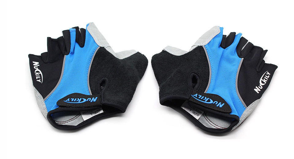 NUCKILY Outdoor Sports Men's Half Finger Cycling Gloves (Pair)