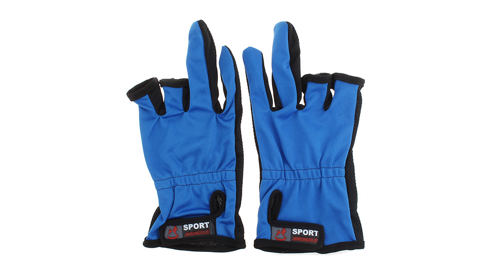 Professional Two Fingers Fishing Anti-Slip Gloves