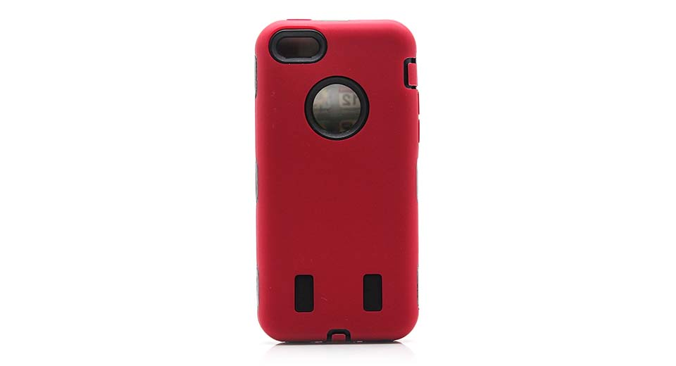 Protective PVC + Silicone Back Case for iPhone 5c