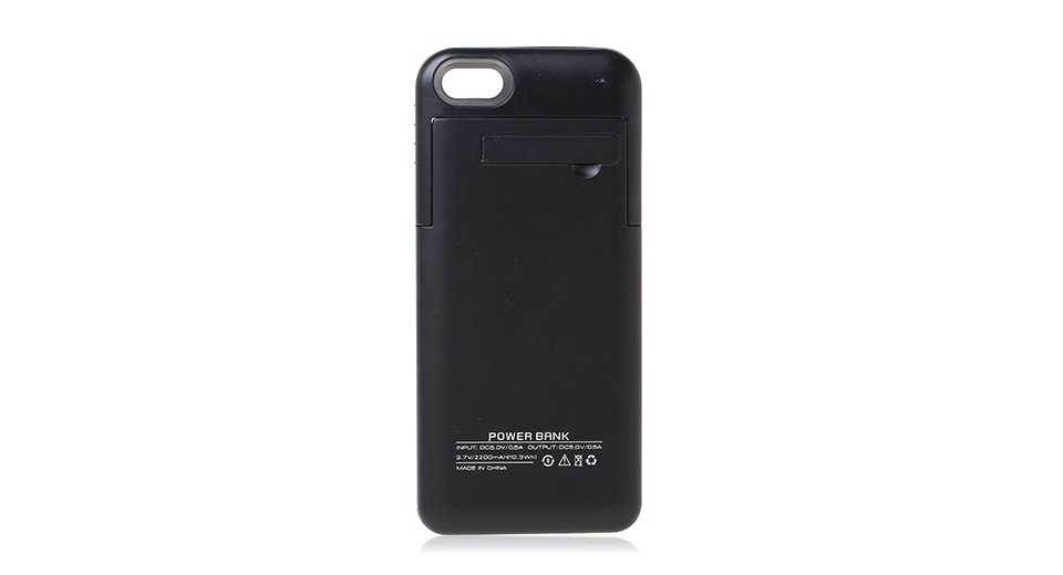 2200mAh Rechargeable External Battery Back Case for iPhone 5/5s