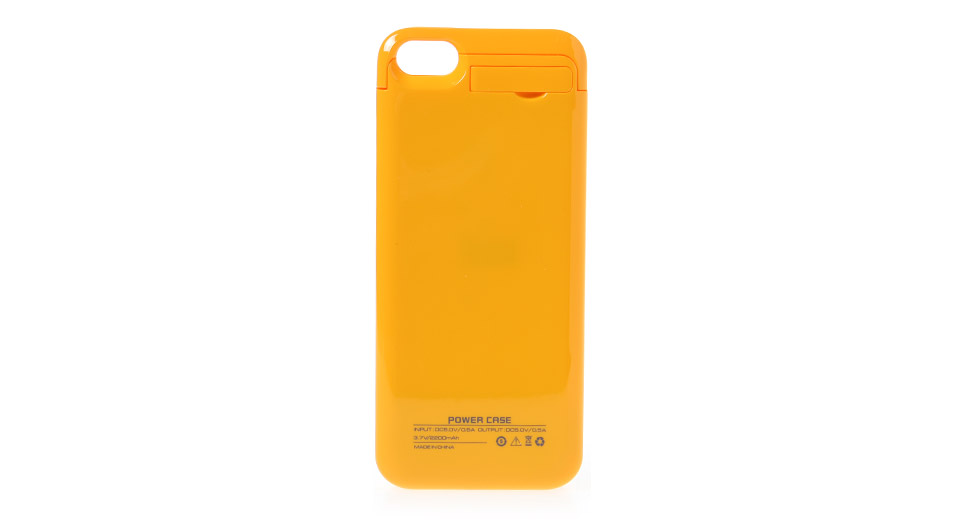 Rechargeable 2200mAh External Battery Back Case for iPhone 5c