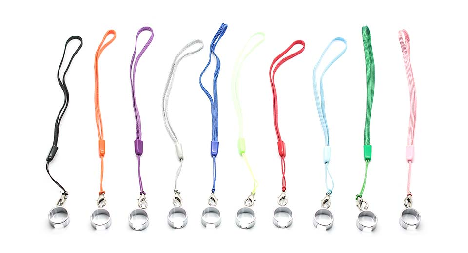 eGo Lanyards w/ Ring Clips for E-Cigarette (10-Pack)