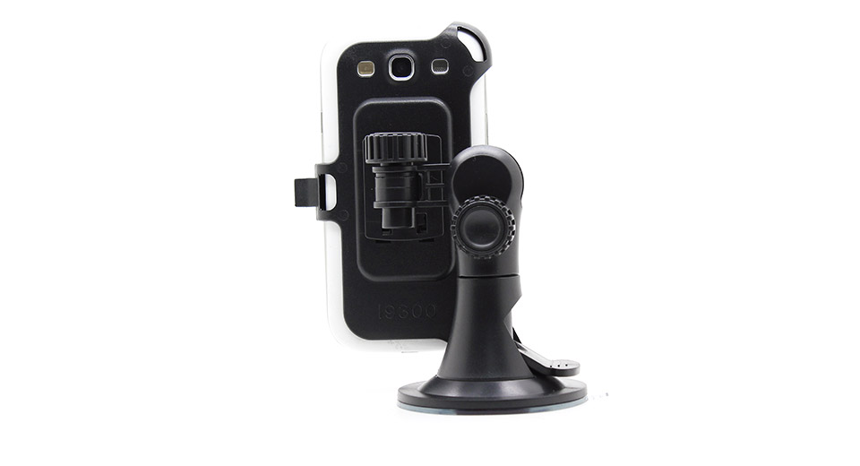 Car Windshield Mount Navigation Swivel Holder for Samsung i9300