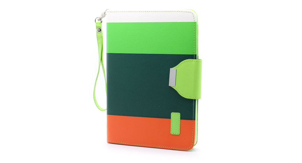 Protective PU + PVC Leather Flip-open Case for iPad Mini
