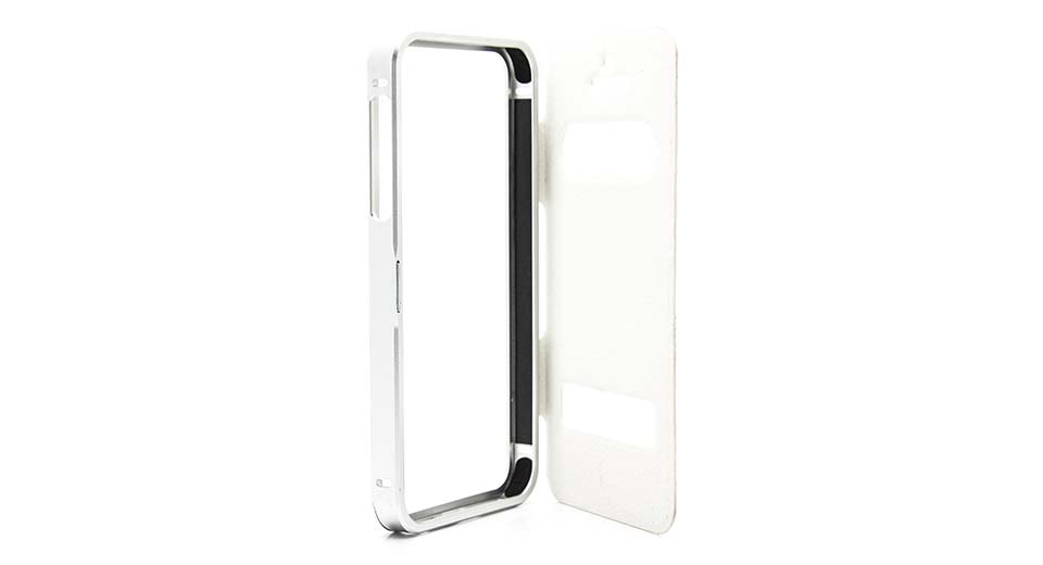 Protective Aluminum Alloy + PU Case for iPhone 5/5s