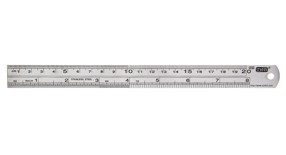 Image of Mini Stainless Steel Ruler (20.0cm / 8-inch)