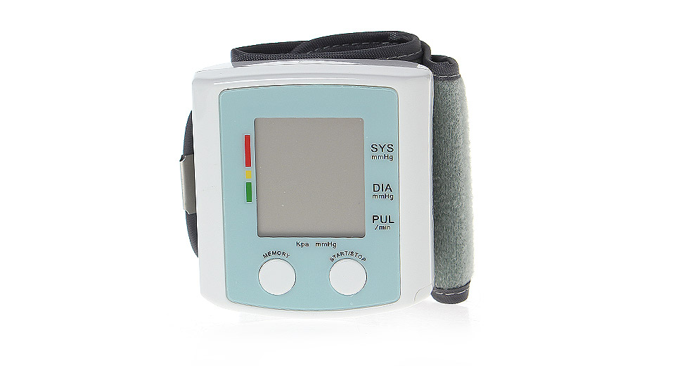 U60AH 1.5 LCD Automatic Digital Wrist Blood Pressure Monitor
