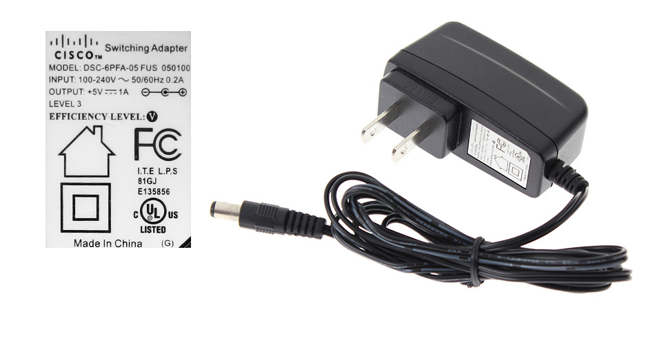 Product Image: cisco-5vdc-1a-100-240v-ac-power-adaptor