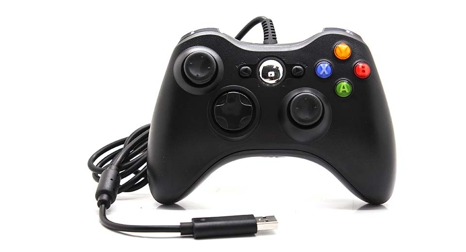 USB Wired Joystick Game Controller Xbox 360 / Slim Black