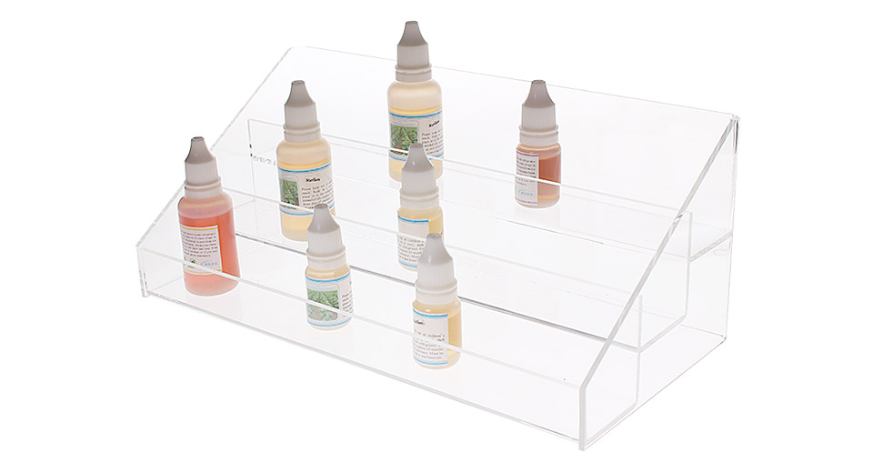 Acrylic 3 Row Display Stand for E-Liquids