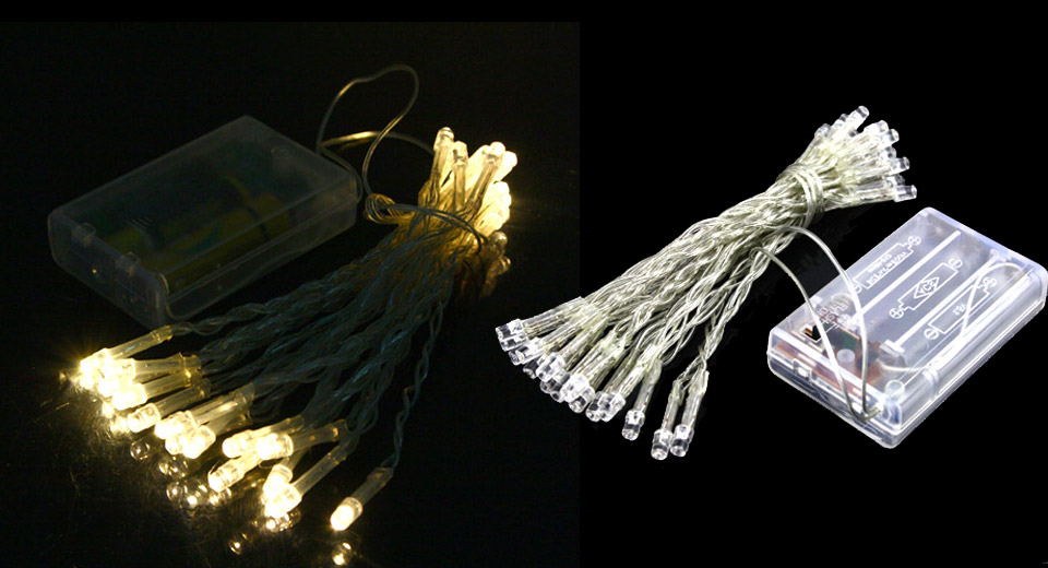 Battery Powered 30-LED 2-Mode String Fairy Lights Christmas Lights (3m)