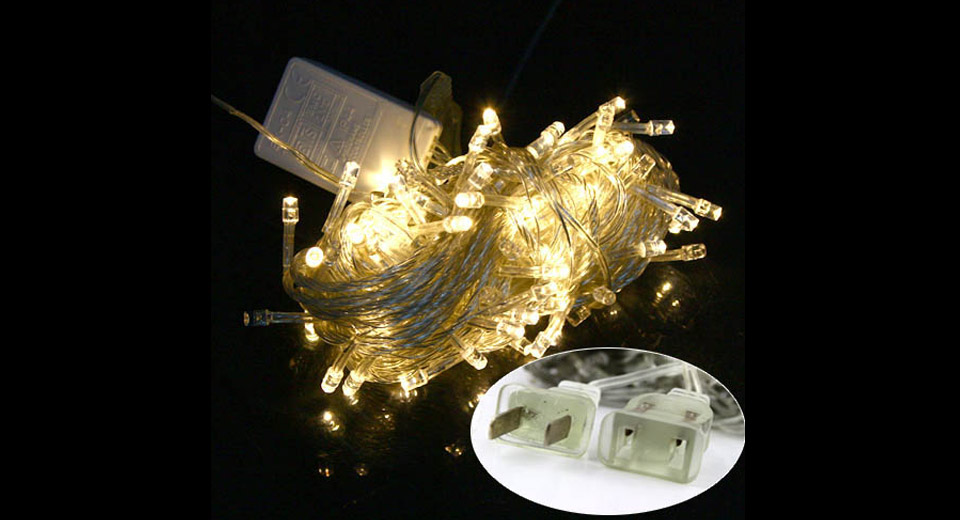 Decorative 100-LED String Fairy Lights for Wedding / Christmas Party (10m)