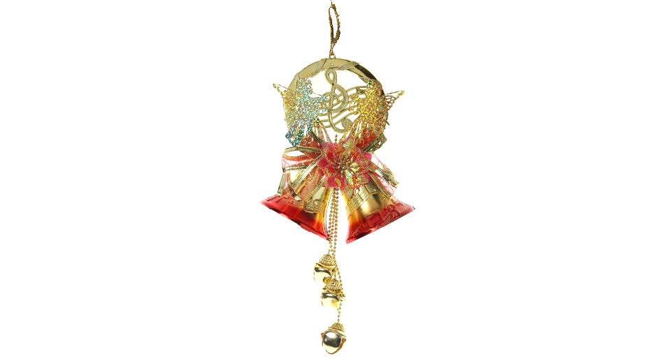 Festive Jingle Bells Style Christmas Tree Decoration