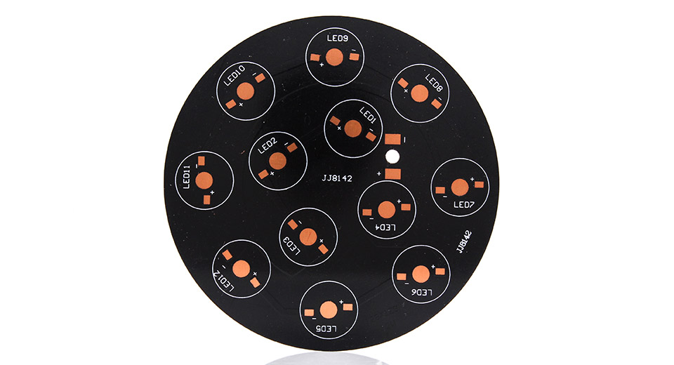 128mm Aluminum Base Plate for 12-Piece LED Emitters, 128mm*1.6mm