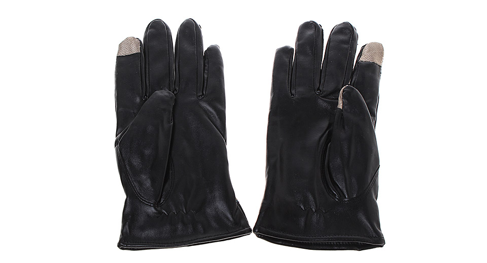 Image of 2-Finger Capacitive Screen Touching Hand Warmer Gloves (Pair)