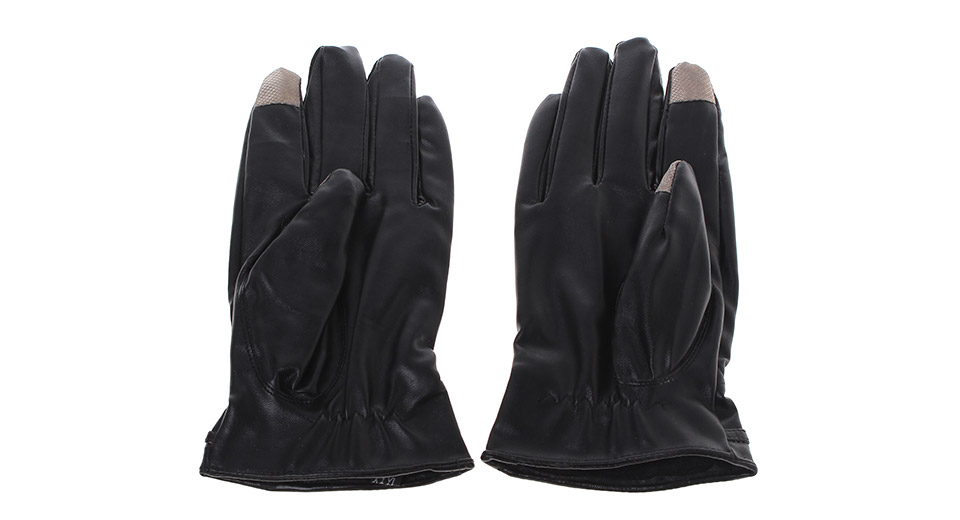 2-Finger Capacitive Screen Touching Hand Warmer Gloves (Pair)