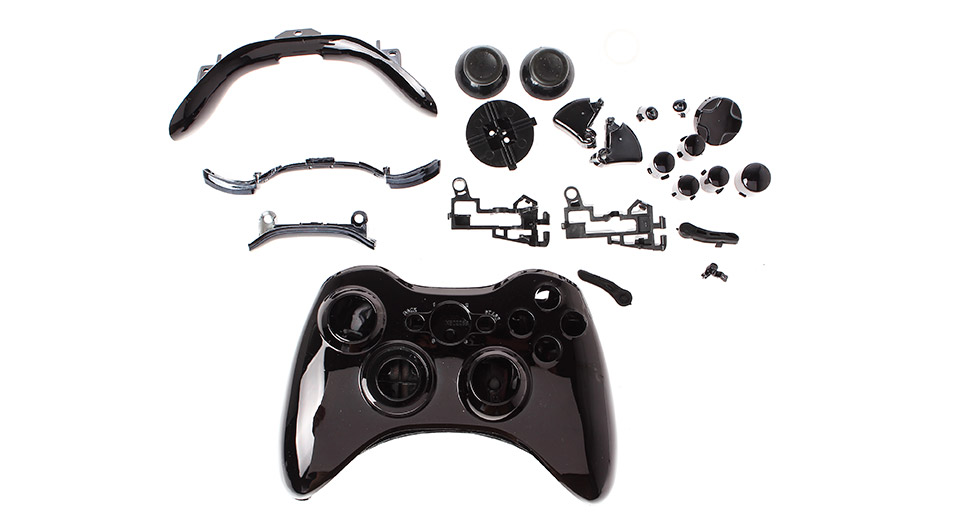 Replacement ABS Housing Shell Kit for Xbox 360 Wireless Controller