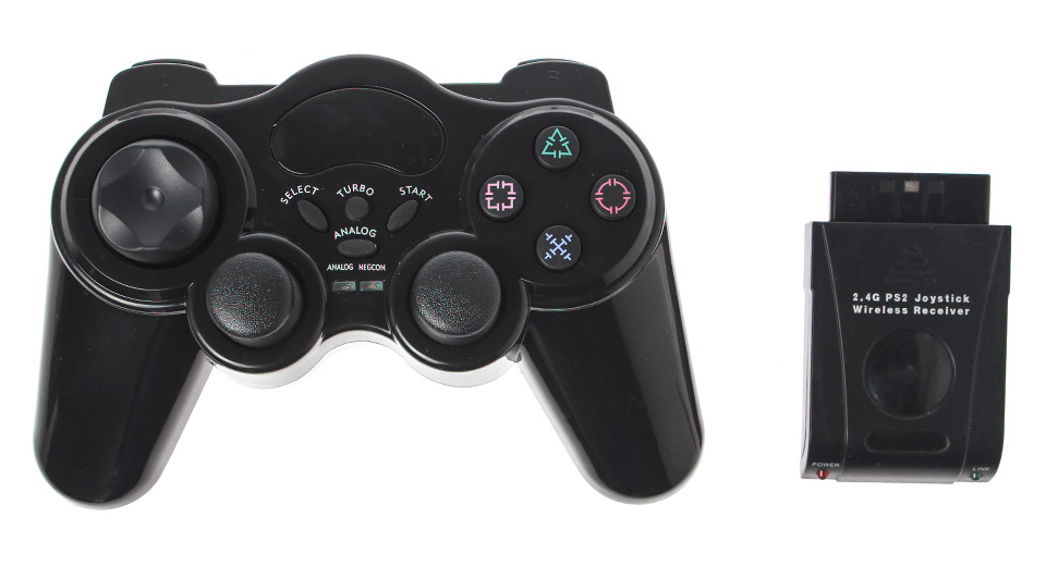 Image of 2.4GHz RF Dual Vibration Wireless Controllers for PS2