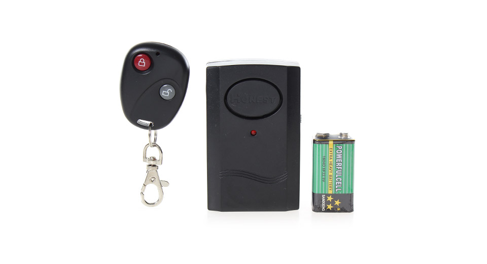 Wireless Anti-Theft Security Vibrating Alarm w/ Remote Controller