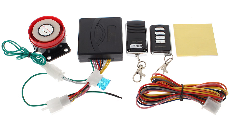 009 125dBm Motorcycle Anti-Theft Security Alarm System