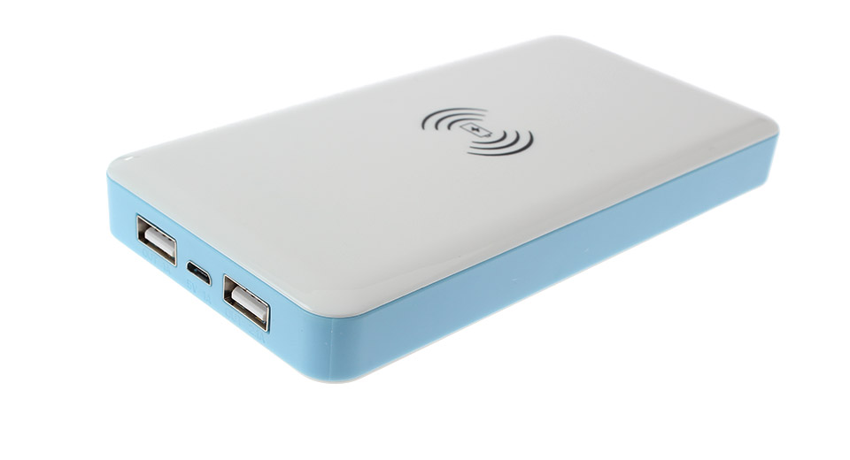 Image of 2-in-1 Qi Inductive Wireless Charger 8000mAh Portable Power Bank