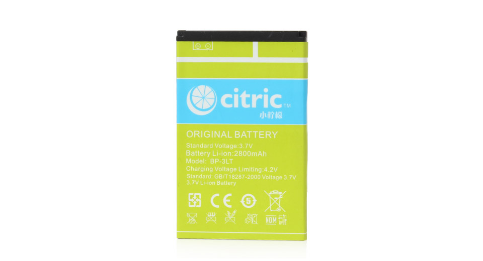 CITRIC 3.7V 2800mAh Replacement Battery for C5 Smartphone
