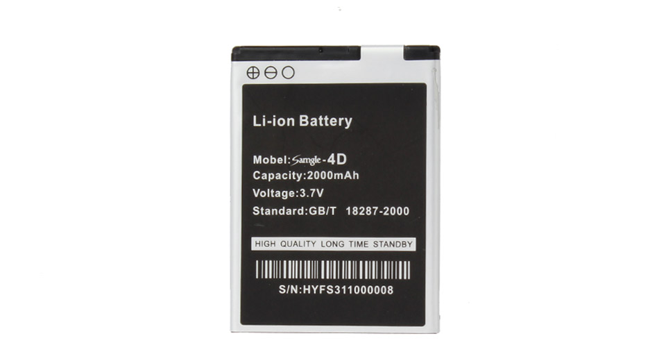 3.7V 2000mAh Replacement Battery for S11 Smartphone