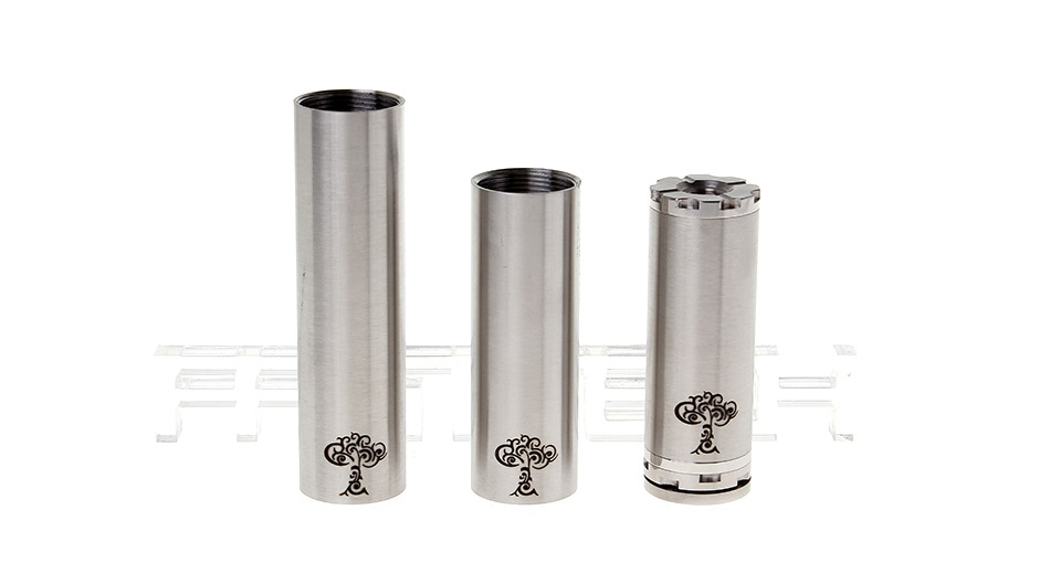 Tree Life Styled Mechanical Mod Set SS, 18350+18500+18650, Silver(A)