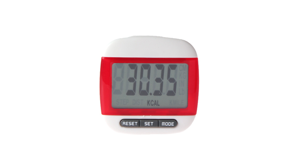 1.6 LCD Clip-Style Step Counter Pedometer