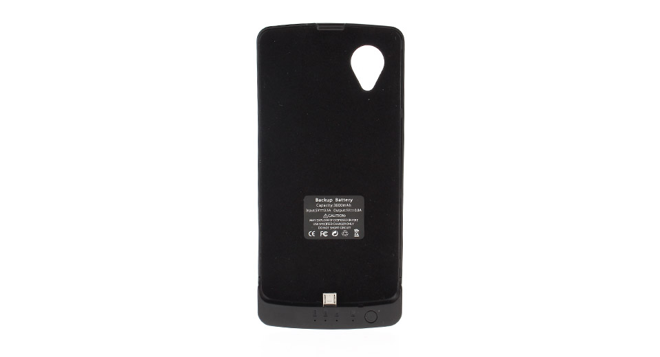 3800mAh Rechargeable External Battery Back Case for LG Nexus 5