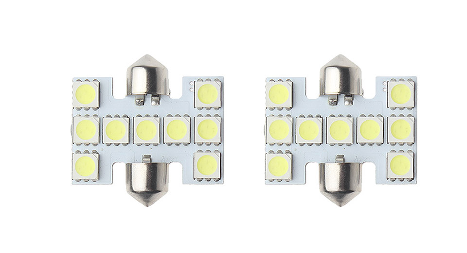 Image of 0.5W 9*5050 SMD 60LM 6000-7000K Pure White Car LED Light (2-Pack)