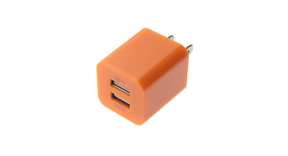 Image of 2.1A/1.0A Double USB AC Power Adapter (US Plug)